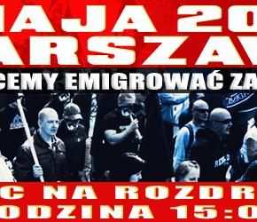 Warszawa: Nacjonalistyczny 1 Maja 2014 - zaproszenie