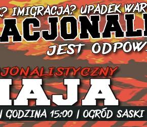 Warszawa: Pierwszomajowy pochód nacjonalistów - zaproszenie
