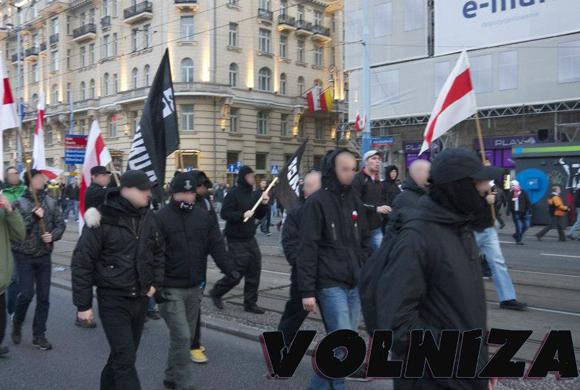 2012, Warszawa: Rosyjscy i białoruscy nacjonaliści na Marszu Niepodległości