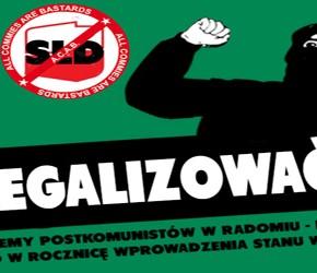 """Radom: """"Zdelegalizować SLD!"""" - pikieta 13 grudnia"""