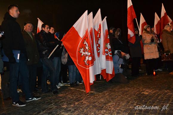 2013 r., Częstochowa: czescy nacjonaliści na marszu w rocznicę wprowadzenia Stanu Wojennego