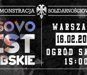 Warszawa: Demonstracja poparcia dla serbskiego Kosowa 2013