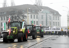 Rolnicy zawiesili protest przed oddziałem Agencji Nieruchomości Rolnej
