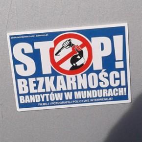 """Stalowa Wola: """"Stop bezkarności bandytów w mundurach!"""""""