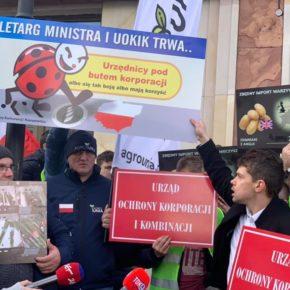 Rolnicy protestowali pod UOKiK-iem