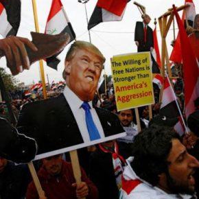 Masowe protesty przeciwko Amerykanom w Iraku