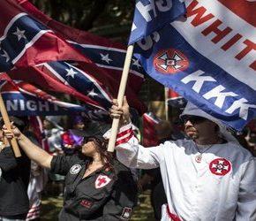 Ku Klux Klan protestował w obronie pomnika dowódcy armii Konfederatów