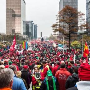 Belgowie protestowali przeciwko planom oszczędnościowym rządu