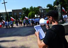 """Przemówienie aktywisty AN na manifestacji """"Gdyby nie Ursus, gdyby nie Radom..."""" (1)"""