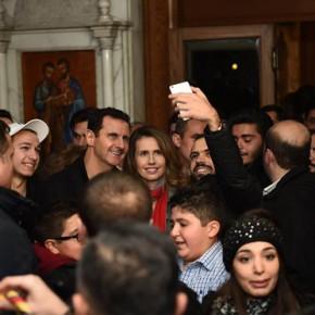 Syryjski prezydent odwiedził katolicką świątynię