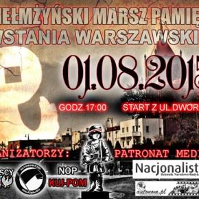 Chełmża: Zaproszenie na Chełmżyński Marsz Pamięci Powstania Warszawskiego