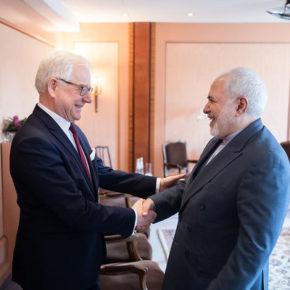 Spotkanie szefów polskiej i irańskiej dyplomacji