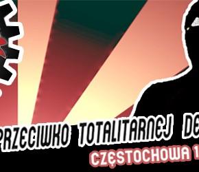 """Częstochowa: Manifestacja """"Młodzież przeciwko totalitarnej demokracji"""" - 18.08.2013"""