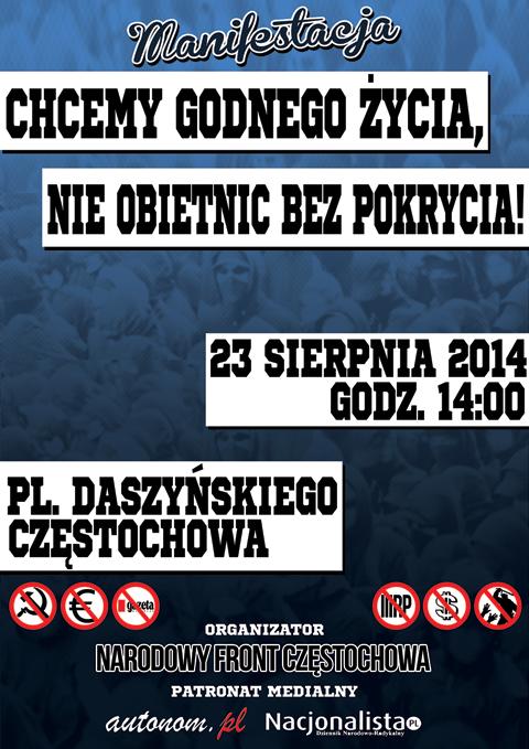 czestochowa-23-sierpnia-manifestacja