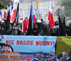 """Częstochowa: """"Nie nasze wojny, nie nasza kultura, nie nasi imigranci"""""""