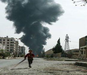 """""""Rebelianci"""" zabijają cywilów na przedmieściach Damaszku"""