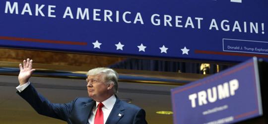 Przereklamowany antysystemowiec Donald Trump