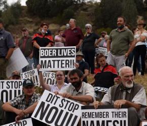 RPA: Biali rolnicy starli się z policją. Padły strzały