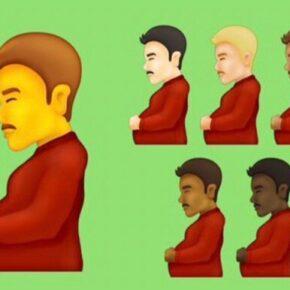 Nowe emotikony z mężczyzną w ciąży