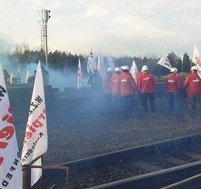 Górnicy zablokowali terminal z rosyjskim węglem