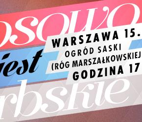 Warszawa: Demonstracja poparcia dla serbskiego Kosowa 2014