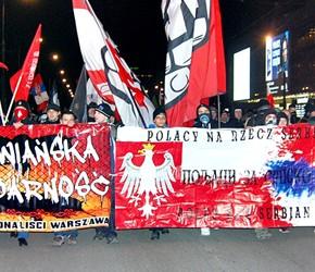 """Warszawa: Demonstracja """"Kosowo jest serbskie"""" 2014"""