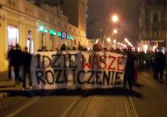 """Kraków: przeszedł Marsz Pamięci """"Idzie wasze rozliczenie!"""""""