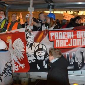 """Bytom: """"Solidarni z górnikami!"""" - manifestacja w obronie KWK Bobrek-Centrum"""