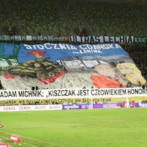 Policja zablokowała patriotyczną oprawę kibiców Lechii