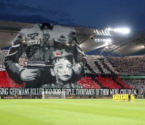 Powstańcza oprawa pod lupą UEFA