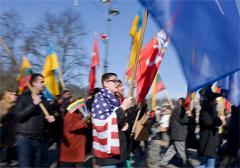 Litwa: prounijny marsz centroprawicy