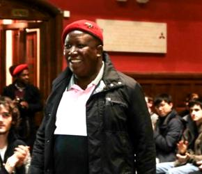 Julius Malema z wizytą w Wielkiej Brytanii