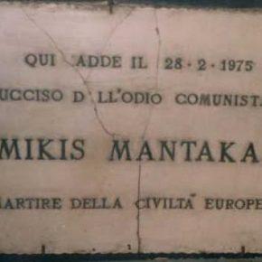 Mikis Mantakas - presente!