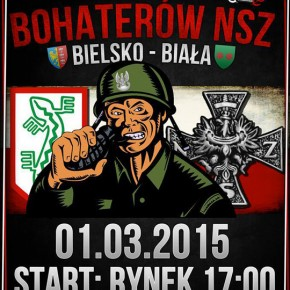 Zaproszenie: Marsz Bohaterów NSZ w Bielsku-Białej (01.03.2015)