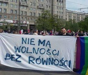 """Partia Razem odkryła """"homofobię"""" na manifestacji opozycji"""