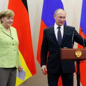 Merkel mówiąc o wartościach przypomina o interesach