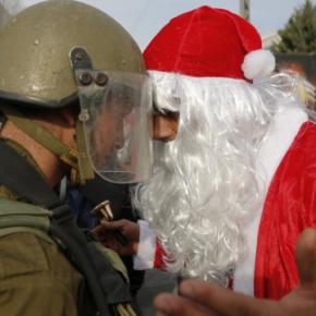 Palestyńscy chrześcijanie protestują w święta