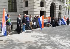 Anglia: Nacjonaliści demonstrowali przeciwko ludobójstwu białych w RPA