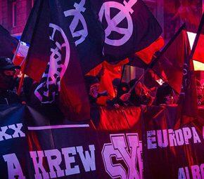 Nacjonalistyczny Czarny Blok na Marszu Niepodległości 2018