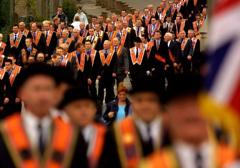 """""""Rzeźnik z Shankill"""" na paradzie Oranżystów"""