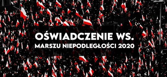 Oświadczenie ws. Marszu Niepodległości 2020