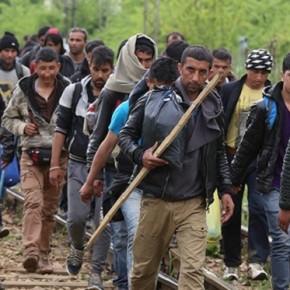 Setki imigrantów przedarły się przez granicę Macedonii