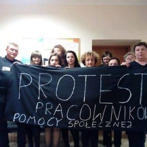 Protestują pracownicy pomocy społecznej