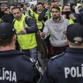 """Portugalskie """"żółte kamizelki"""" pacyfikowane przez policję"""