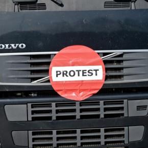 Protest transportowców na drogach w Polsce