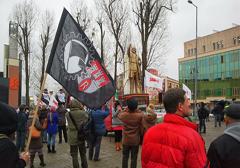 Radom: Nacjonaliści na antyrządowej pikiecie związkowców