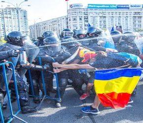 Protesty emigrantów w Rumunii