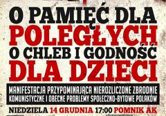 """Rzeszów: Marsz """"O pamięć dla poległych – o chleb i godność dla dzieci"""" - zaproszenie"""