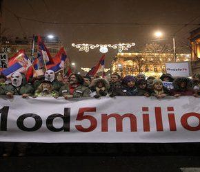 Serbska opozycja wciąż protestuje
