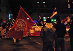 """Przemówienie nacjonalistów z Serbii na demonstracji """"Kosowo jest serbskie"""" w Warszawie (15.02.2014)"""